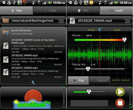 ضبط قدرتمند صدا با RecForge Pro   Audio Recorder v2.1.4