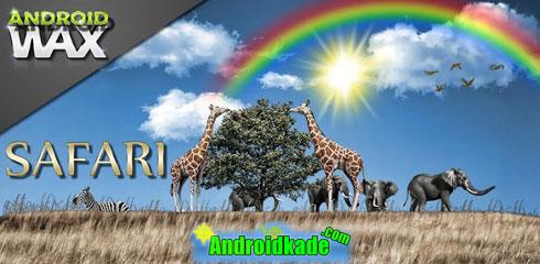 لایو والپیپر زیبای  Safari Live Wallpaper v4.0
